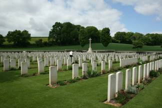Hamel Military Cemetery Pals Tour 2009 by Stephen Page