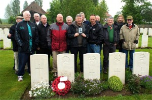 Retired Met Police Officers at the grave of ex Chelsea Police Constable, Charles Pope VC, 21 May 2012
