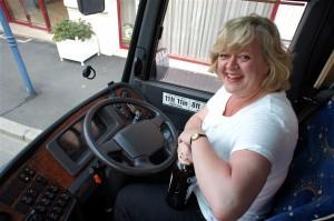 Our delightful new coach driver, Coren 'Ricard' Smith